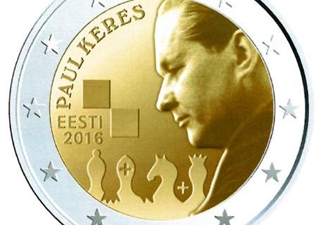 Kolekcijas papildināšana- 2eiro monēta: igauņu šahista Paula Keresa 100.gadadiena.