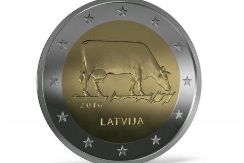 """Kolekcijas papildināšana: 2eiro monēta """"Latvijas brūnā""""."""