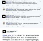 Tviterkomunikācija ar PVD