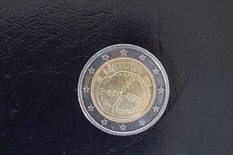 """Kolekcijas papildināšana- Lietuvas 2 eiro piemiņas monēta """"Baltu kultūra""""."""