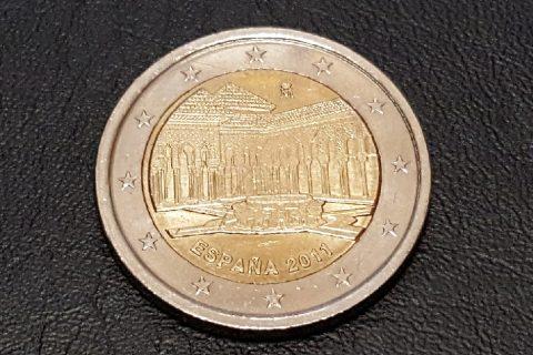 """Kolekcijas papildināšana- Spānijas 2 eiro piemiņas monēta """"Granādas Lauvu pagalms""""."""