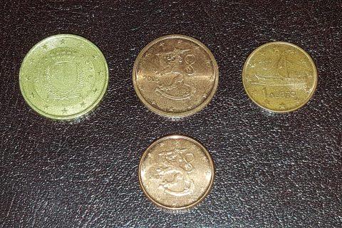 Kolekcijas papildināšana- centu monētas.