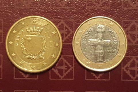 Kolekcijas papildināšana- Kipras eiro un Maltas centi.