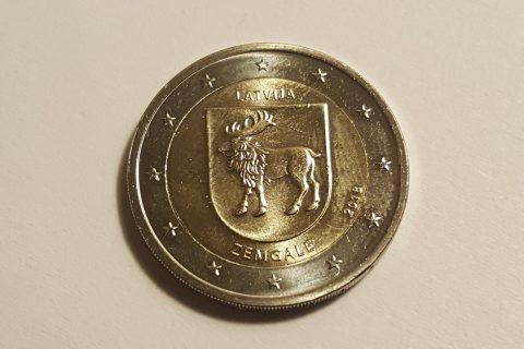 """Kolekcijas papildināšana- Latvijas 2 eiro piemiņas monēta """"Zemgale"""""""