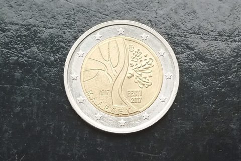 """Kolekcijas papildināšana- Igaunijas 2 eiro piemiņas monēta """"Igaunijas neatkarība""""."""